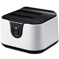 Tooq Tqds-802bw Dock Station doble Bahía HDD Ne/bl (Cod. Inf-aaacet0136)