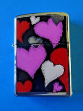 Vintage 1991 Enamel HEARTS Zippo Lighter  Bradford PA