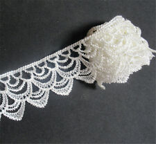 3 Yards White Lace Trim Ribbon Wedding Bridal Dress Embroidered DIY Craft Sewing