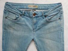 TOPSHOP Skinny Slim Baxter LUCE STONEWASHED ELASTICIZZATO JEANS Taglia 12 R W30 L32
