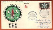 1959-Enveloppe Fdc 1°Jour-Ecole Nationale Supérieur des Mines-20f-Timbre-Yt.1197