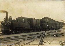 Steam Train & Rail Workers Sant Feliu de Guixols Spain 1900 7x5 Inch Repro Photo