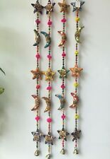 INDIAN HANGING Moon & Stars DECORATION WALL DOOR WINDOW HANGING Tota Bell BOHO