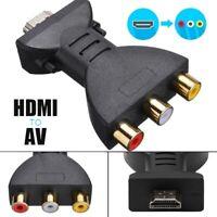 HDMI Male to 3 RCA Female Composite AV Video Audio Adapter Converter for TV PC