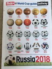 The Sun 64 page Football World Cup Guide Russia 2018 Fixture Planner UK Handbook
