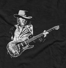 Stevie Ray Vaughan T Shirt Fender Guitar Classic Rock Blues / Gift Black 3XLG