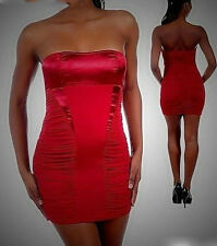 Women dresses red stretch bodycon clubwear cocktail holiday xmas outfit size M