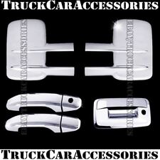For CHEVY Silverado 2500/3500HD 2014 2015 Chrome Covers Mirrors+2 Doors+Tailgate
