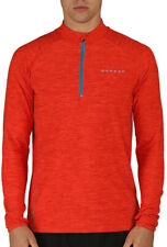 Dare2B Trivial Mens Cycling Jersey Long Sleeve Orange Half Zip Bike Cycle Top