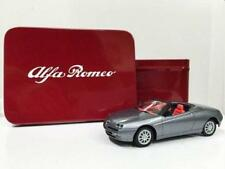 ALFA ROMEO SPIDER metalic silver 1:43 scale model from Solido  in Collectors Tin
