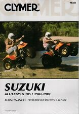 CLYMER SERVICE MANUAL M381 SUZUKI ALT125 1984-1985, ALT185 1984 1985 1986 1987