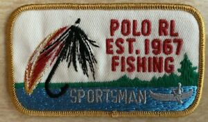 """Genuine American PRL """"RL 1967 Fishing Sportsman"""" Fabric Embroidered Patch Emblem"""