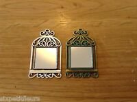 Miniature metal MIRROR for 1:12th scale dolls house antique vintage picture UK