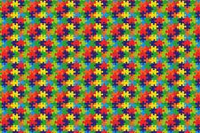 Puzzle Htv Heat Transfer Vinyl Printed Pattern Shirt Craft Sheet 18 X 12 Toy Kid