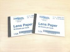 """SET of 2 X 50 Lint-free Lens Cleaning Paper 4"""" x 6"""" -Free Shipping"""