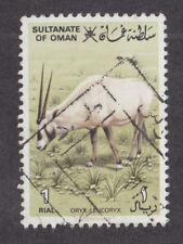 Oman Sc 236 used 1982 1r Arabian Oryx, Top Value to Set, fresh, VF.