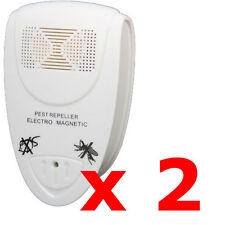 2 X ELETTRONICA UK Plug-In a ultrasuoni roditori Pest Repeller Fly Repellente per topi ratti
