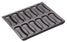 Masterclass Professional 12 Hole Non Stick Choux Pastry Eclair Baking Tin Sheet