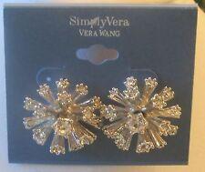 Simply Vera Wang Nwt $14 women's earrings silver tone rhinesones