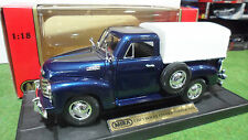 CHEVROLET Pick Up Baché Closed Topper 1953 bleu 1/18 MIRA 6271 voiture miniature