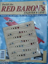 BUILD THE RED BARON'S FIGHTER PLANE FOKKER DR1  HACHETTE  ISSUE 18  NEW SEALED