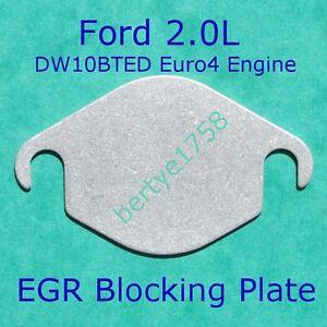 EGR valve blanking plate Ford 2.0 TDCi Mk4 Mondeo C-Max S-Max Focus Kuga Galaxy