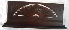 Antique Eastlake Victorian Carved Sunburst Sheet Music Book Stand Top Wall Shelf