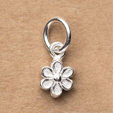 Solid 925 Sterling Silver Little Flower Daisy Charm Necklace Bracelet Pendant