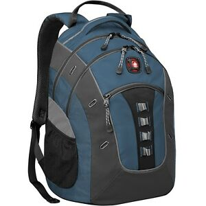 """Swissgear 600732 Granite Carrying Case (Backpack) for 16"""" Notebook - Blue, Gray"""