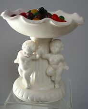 Vintage (1963) Inarco Compote Dish/Candy Dish/SoapDish Cherubs/Putti Cleve Ohio