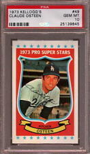 1973 KELLOGG'S # 49 CLAUDE OSTEEN LOS ANGELES L.A. LA DODGERS PSA 10 GEM-MINT