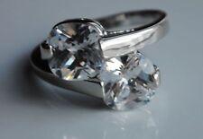 Diamond Engagement White Gold Filled Costume Rings