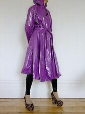 Shiny Purple PVC Raincoat, Plastic Mac / Rain Coat, PVC-U-Like, XL Regenmantel.