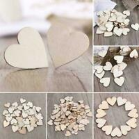 Unfinished Wooden Heart Wood Slices Embellishment Scrapbooking Craft H7T1