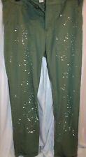 Adam Levine Green Splattered Paint Pants Size 5/6 NEW