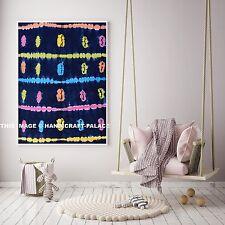Indigo Indian Wall Hanging Beach Throw Home Decor Poster Blue Shibori Tapestry