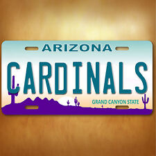 Arizona Cardinals Aluminum License Plate Tag New