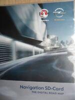 OPEL Chevrolet Navigation SD Karte EUROPA 2012 Navi 900 Navi 600 Fzg ab 08/2011