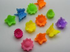 50 Assorted Plastic Flower Butterfly Mini Hair Claw Clips Clamp DIY for Kids