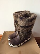 Women's Rare Sold Out Ugg Australia Lilyan Leather Sheepskin Boots Uk Size 5.5