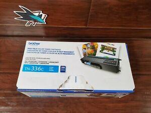 Genuine Brother TN-336C High Yield Cyan Toner Cartridge OEM NEW OPEN BOX