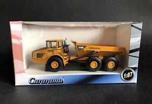 CARARAMA VOLVO CONSTRUCTION DUMP TRUCK A40D 1:87 HO/OO Scale Boxed Dumper Tipper