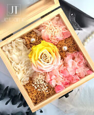 Je T'aime Multi-Color Preserved Fresh Roses Immortal Flower - Yellow Pink