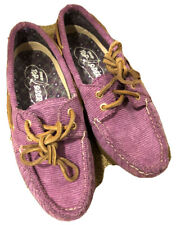 Sperry Boat Shoes Top-Sider Corduroy Violet Size 5.0