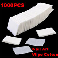 1000 Nail Polish Cleaner Remover Wipes Acrylic UV Gel Tips Cotton Pads Lint Free
