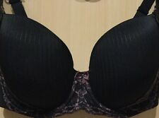 M&S New Adored DD+ Underwired Pad'd Full Cup T Shirt Bra With Lace Black Mix 32F