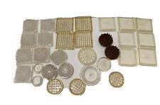 Vintage Plastic Carpet Floor Protectors Furniture Leg Coasters Mixed Lot Used