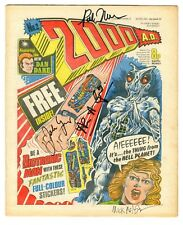 2000 A.D. Programme #2 (Fleetway 1977) RARE KEY SIGNED 4X–1st App Judge Dredd !!