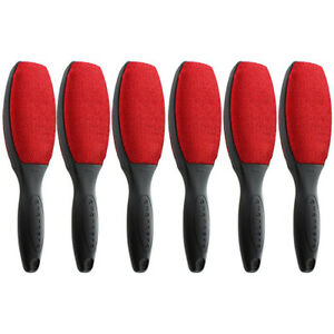 Evercare Magik Double Sided Lint Brushes With Grip Handles - Red (Pack of 6)