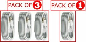 USB Charger Data Sync Cable Wires For iPhone 12,11 ,X,XS,SE,6,7,8 ( Pack of 3)